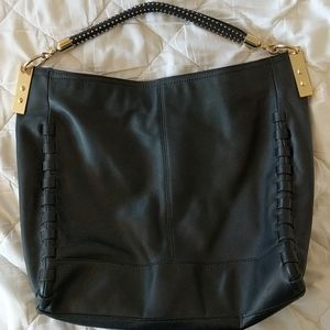 Vince Camuto Leather Purse (Black w/ gold)